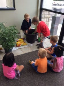 Gardening at Villa Montessori Preschool