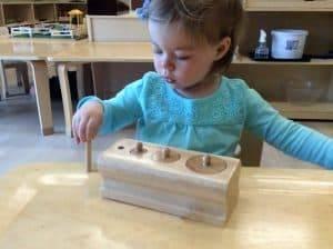 Toddler Sorting Shapes at Villa Montessori Preschool Leesburg