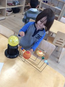Learning About Space at Villa Montessori Preschool Leesburg